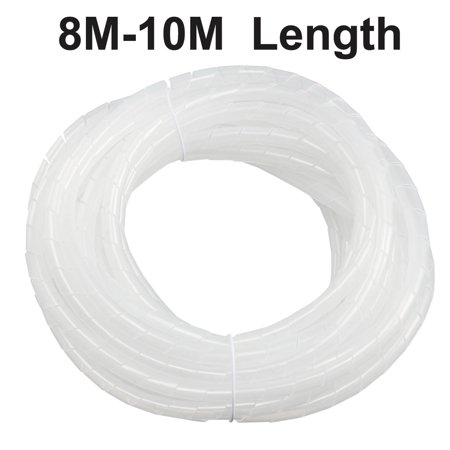 10mm Flexible Spiral Tube Cable Wiring Wrap Computer Manage Cord Transpare on insulation wrap, cable wrap, conduit wrap, cooling wrap, blue wrap, lens wrap, exhaust wrap, furniture wrap, wood wrap, paint wrap, roof wrap, battery wrap, building wrap,