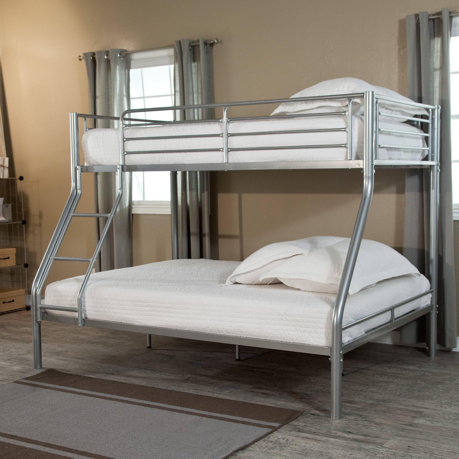 Duro Wesley Twin over Full Bunk Bed Silver Walmart