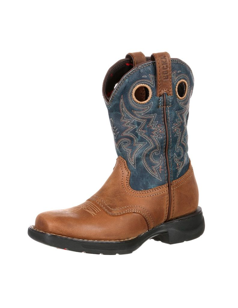 Rocky Lt Big Kids Waterproof Saddle Western Boot RKW0164 by Rocky