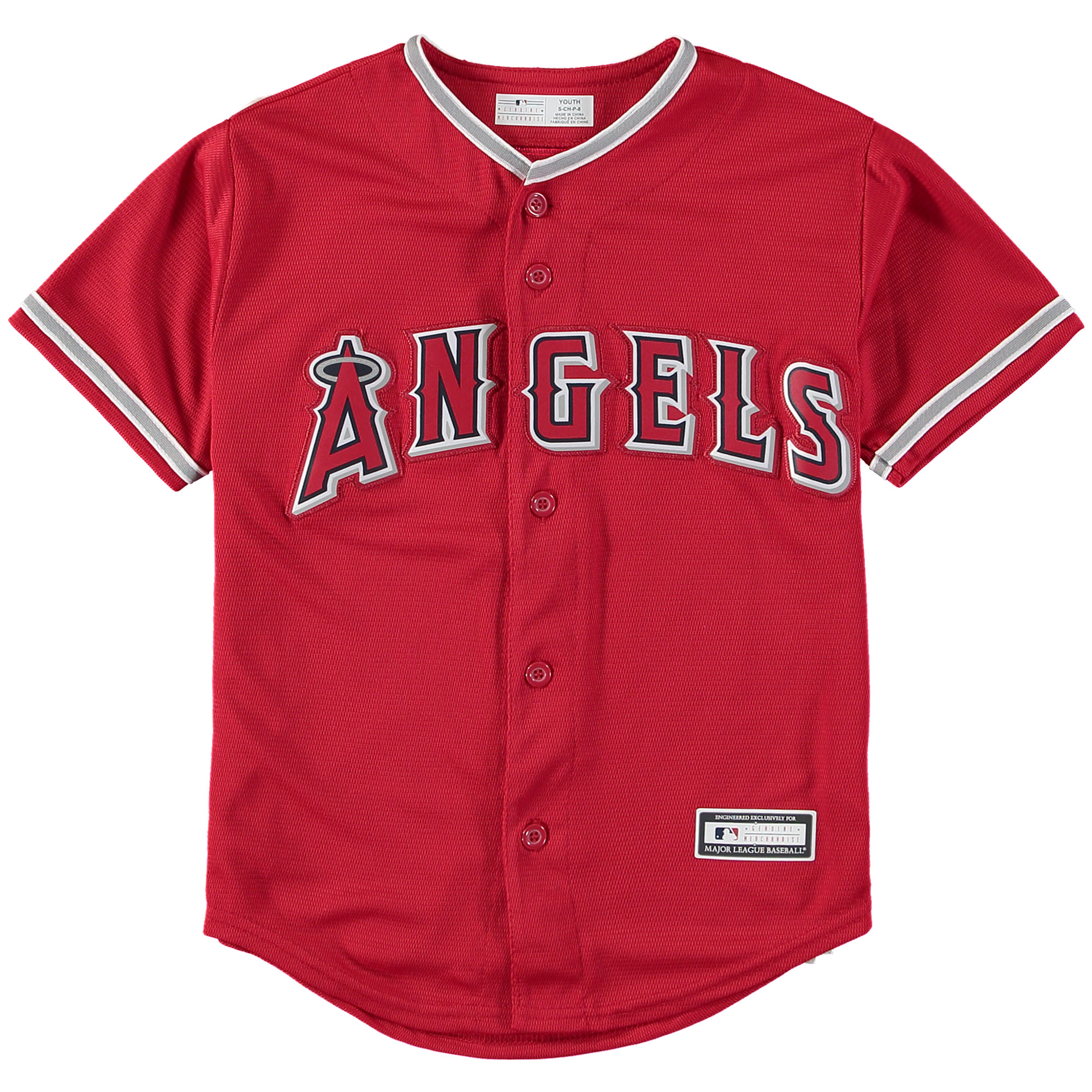 Los Angeles Angels Youth Replica Blank Team Jersey - Scarlet