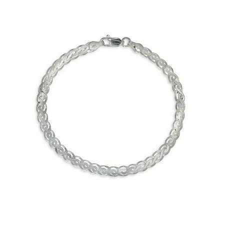 Scroll Link Sterling Silver Chain Bracelet Accurist Ladies Bracelet