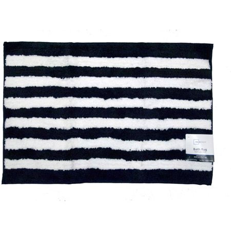 mainstays dots and stripes bath rug