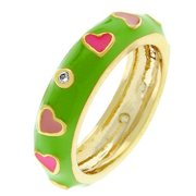 Sunrise Wholesale J2613 14K Gold Pinky Hearts Ring- Size 09