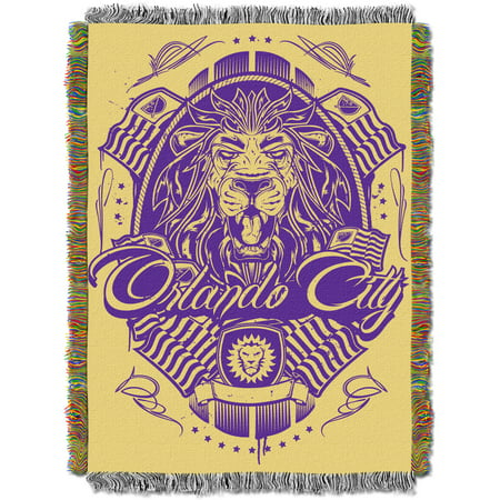 "MLS Orlando City FC Handmade 48"" x 60"" Woven Tapestry Throw"