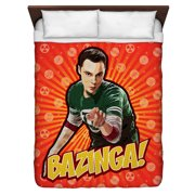 Big Bang Theory Bazinga Queen Duvet Cover White 88X88