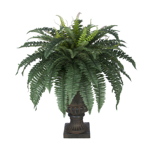 House of Silk Flowers Inc. Artificial Fern Floor Plant in Urn