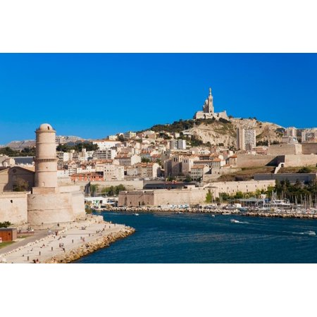 Fort Saint-Jean and old port of third largest city in France, Marseille, Provence, France on the... Print Wall Art - City Of Port Saint Lucie