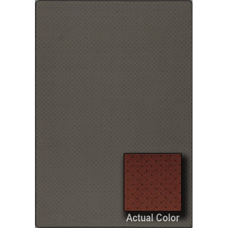 Milliken Indian Red Sonata - Milliken Imagine Area Rugs - VIEWPOINT Contemporary Rustic Red Boxes Diagonal Dots Points Rug