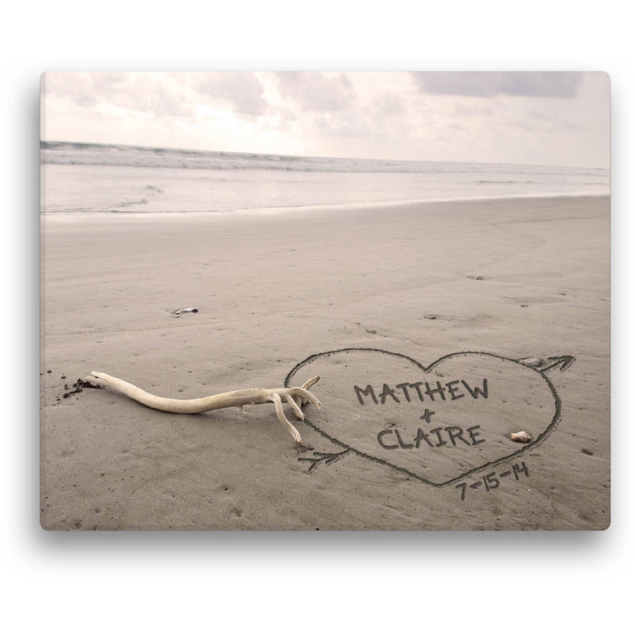 Personalized Names In The Sand Canvas Available In Multiple Sizes