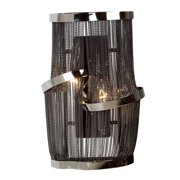 Mulholand Dr. Black Chrome Two-Light Wall Sconce