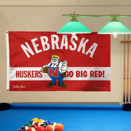 Nebraska Cornhuskers WinCraft College Vault Logo Deluxe Single-Sided 3' x 5' Flag - No (5' Logo Flag)