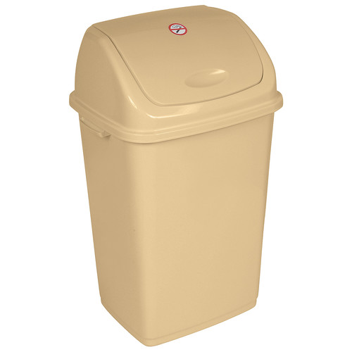 Superior Performance Plastic 13 Gallon Swing Top Trash Can by Superior Performance