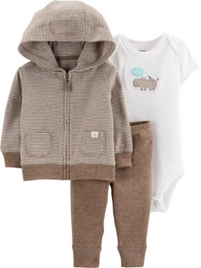 Carters Baby Boys 3-pc. Hippo Jacket Layette Set