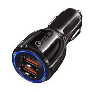 5V 3.1A USB Car Charger 3.0 Mobile Phone Charger Dual USB Fast Charger for Xiaomi /iPhone /Huawei/ Xiaomi /Samsung