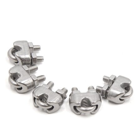 M3 Wire Rope Cable Clip 304 Stainless Steel U Clamp Ring Fastener 5pcs
