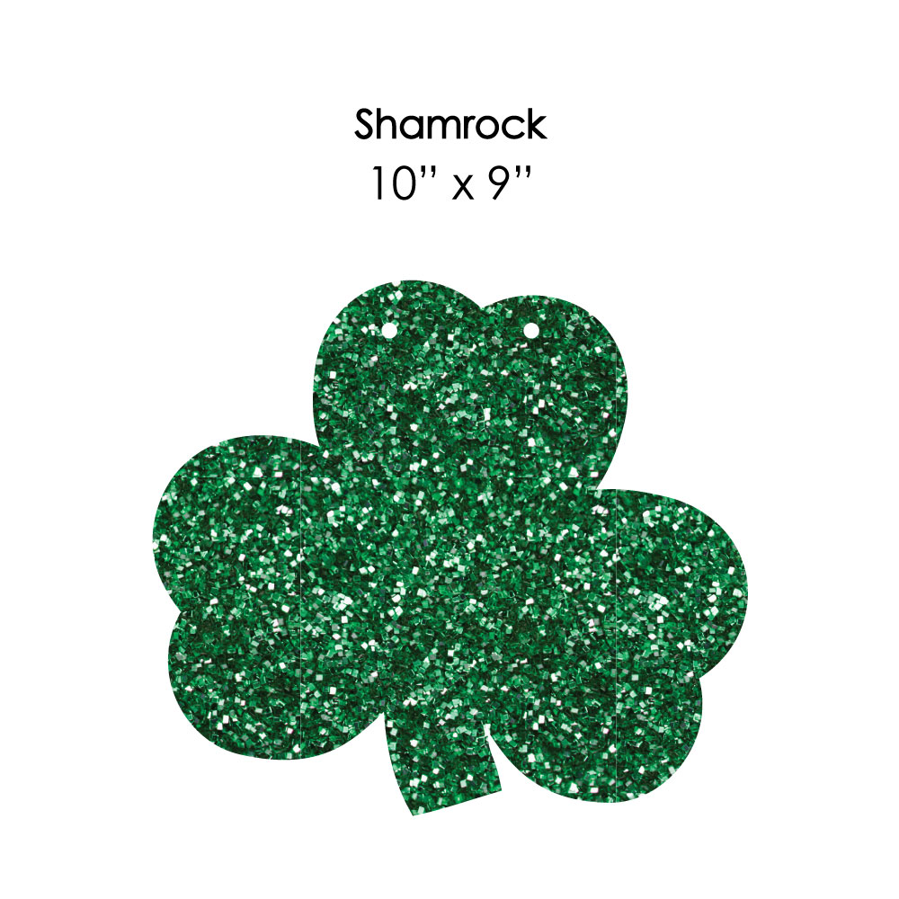 Shamrock Hanging Tree and Outdoor Decor Hanging St Outdoor Saint Patty/'s Day Party Porch /& Tree Yard Decorations 10 Pc. Patrick/'s Day