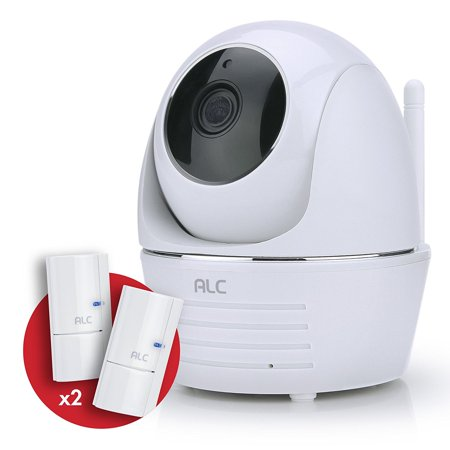 ALC 1080p Security System Pan&Tilt Wi-Fi Camera with built-in Siren and 2 Door Window