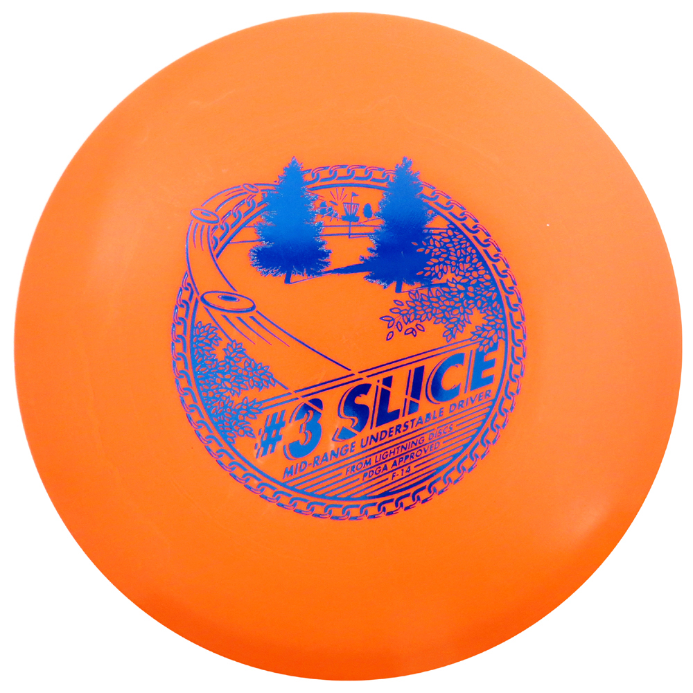 Lightning Golf Discs #3 Slice Midrange Golf Disc [Colors may vary] - 151-159g