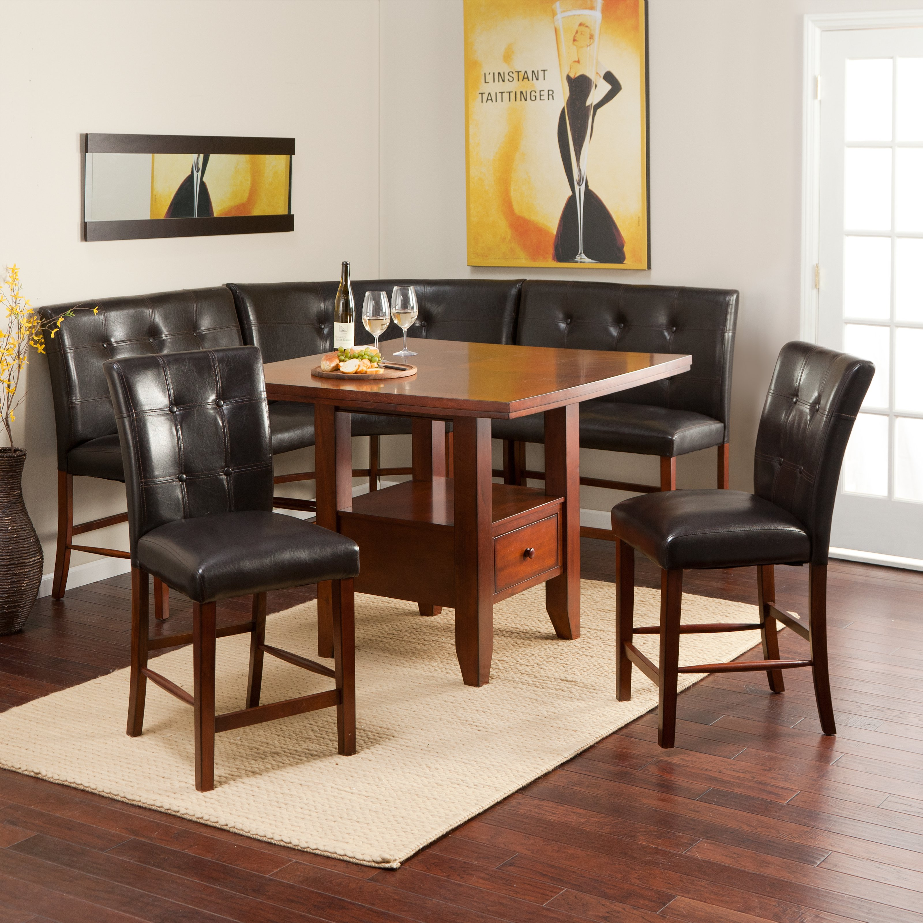 Ravella Counter Height 6 Piece Nook Set   Walmart.com