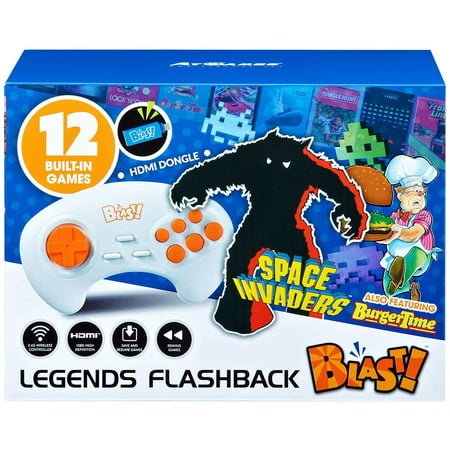 Legends Flashback Blast!, Space Invaders, Retro Gaming, Blue, 818858029582