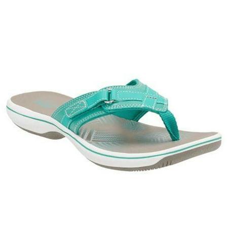 12cce418216b5b clarks narrative breeze sea women open toe synthetic blue thong sandal -  Walmart.com