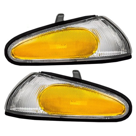 Side Marker Corner (Driver and Passenger Park Signal Side Corner Marker Lights Lamps Replacement for Mitsubishi Eagle MB861295)