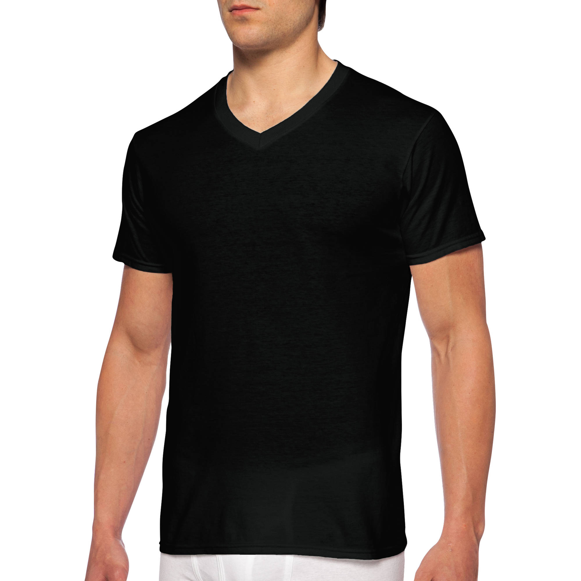 Men's Short Sleeve V-Neck Assorted Color T-Shirt, 4-Pack