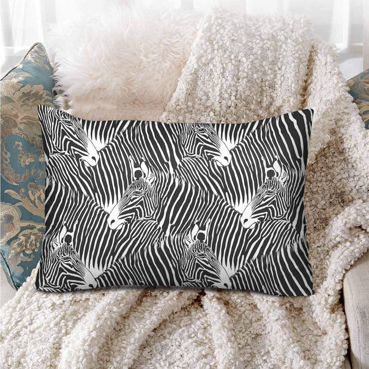 GCKG Zebras Black and White Seamless Pattern Pillow Cases Pillowcase 20x30 inches - image 2 de 4