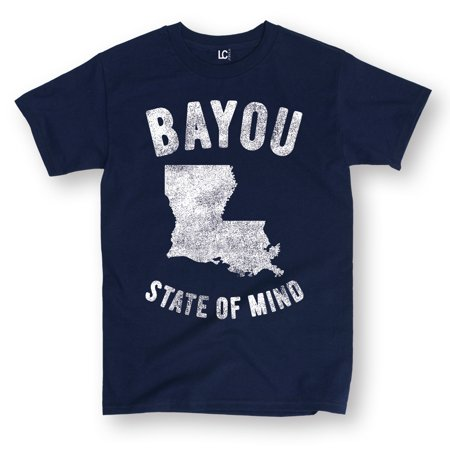 Bayou State Of Mind Lousiana LA New Orleans Creole Cajun Novelty Mens (Tonys Super Cajun Seafood New Orleans La)
