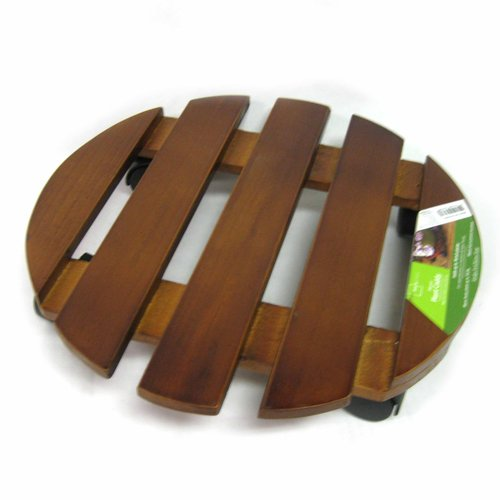 "Mainstays 14"" Round Wood Caddy"