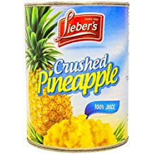 Lieber's Crushed Pineapple 100% Juice KFP 20 Oz. Pack Of 3. (Crushed Pineapple)