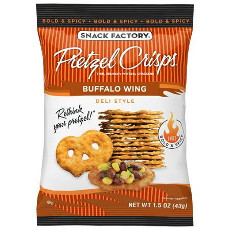 Cheddar Pretzel - Snack Factory Pretzel Crisps Buffalo Wing, 1.5 Oz, 24 Ct