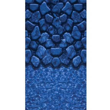 24-ft. Round Beaded Pool Liner for 48-in. Wall - Boulder Swirl - 20-Gauge