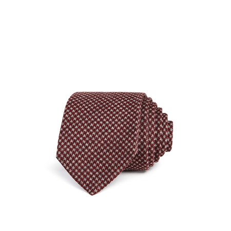Bloomingdale's Mens Houndstooth Necktie 001 One - Cashmere Wool Tie