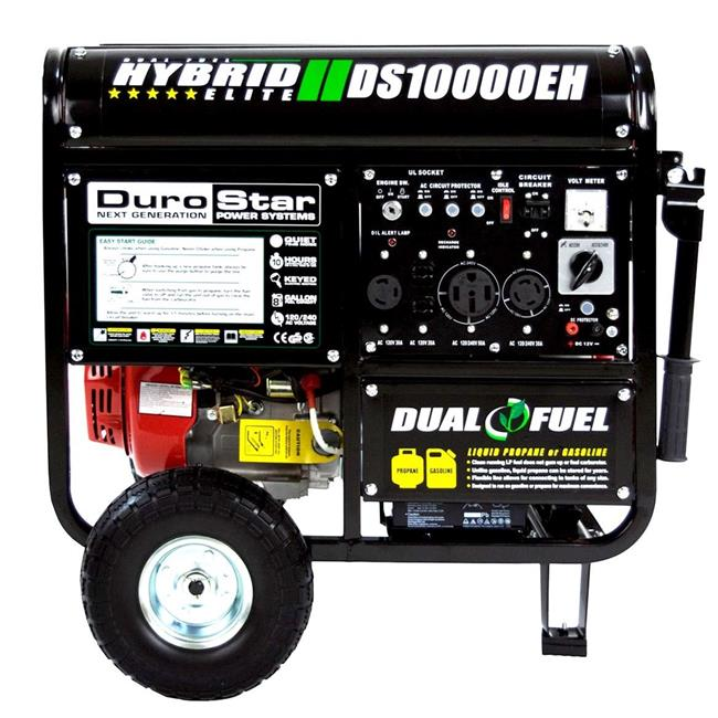 DuroStar DS10000EH 10000 Watt 18 Hp Dual Fuel HYBRID Generator w/ Electric Start