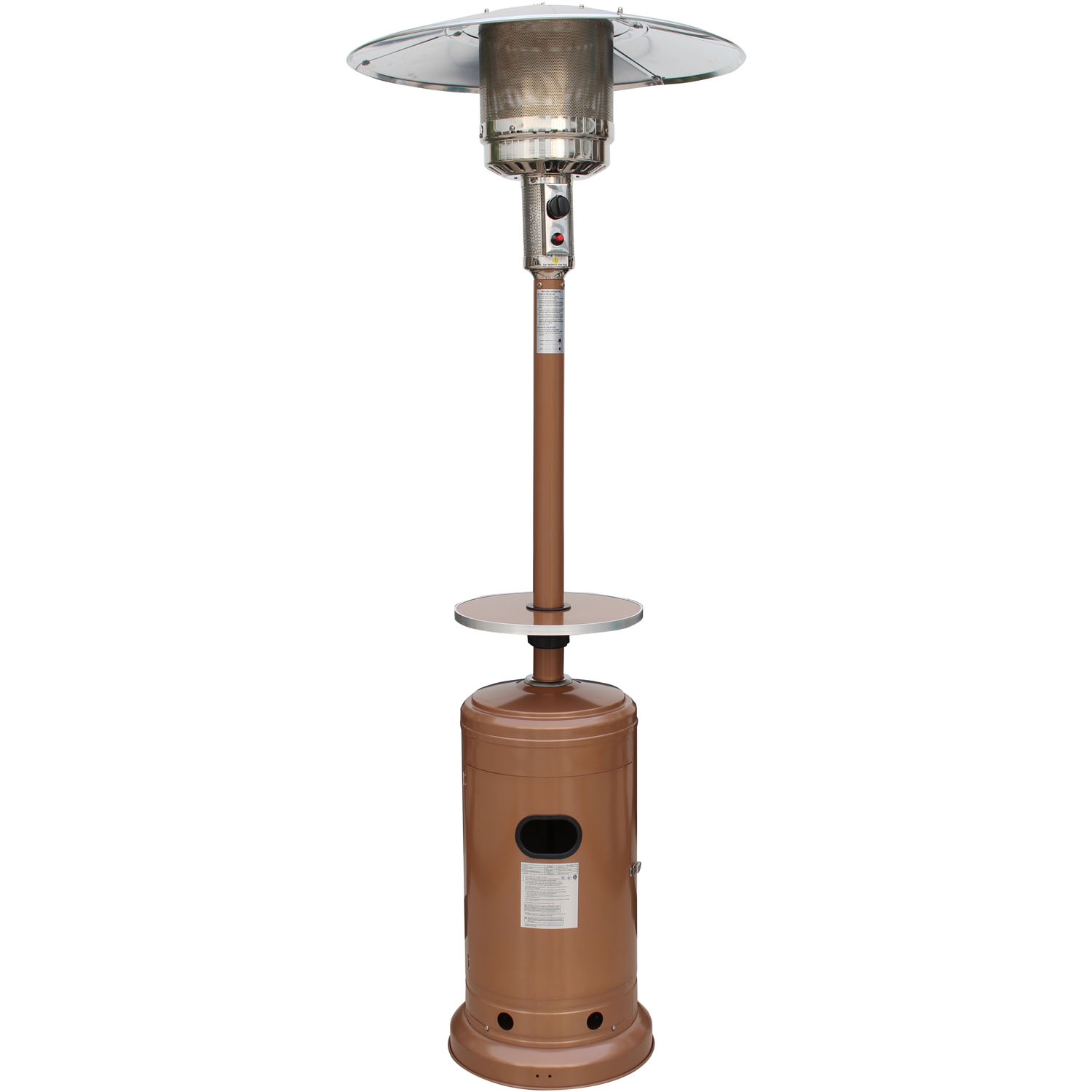 Hanover 7-Ft. 41,000 BTU Steel Umbrella LP Patio Heater in Autumn Bronze by Hanover