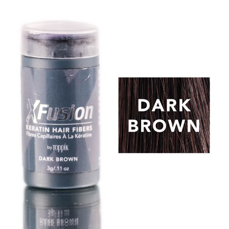 Xfusion Hair Fiber - XFusion Dark Brown Keratin Hair Fibers (Size : 0.11 oz)