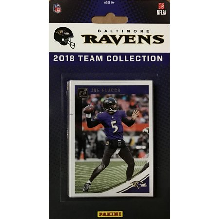 Baltimore Ravens 2018 Donruss NFL Football Complete Mint 13 Card Team Set with Joe Flacco,Terrell Suggs, plus Rookie cards of Lamar Jackson and 5 other Rookies