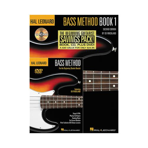 Hal Leonard Bass Method Beginner's Pack (Book CD DVD) by Hal Leonard