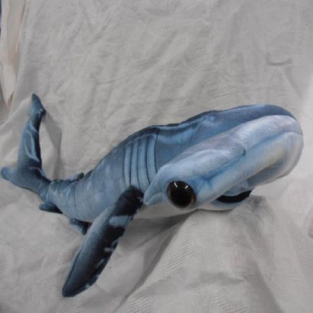 Blue Printed Hammerhead Shark Plush Toy 35 Long