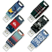 8GB EP Capless USB, DC Shoes, Quiksilver and Roxy, 6-Pack