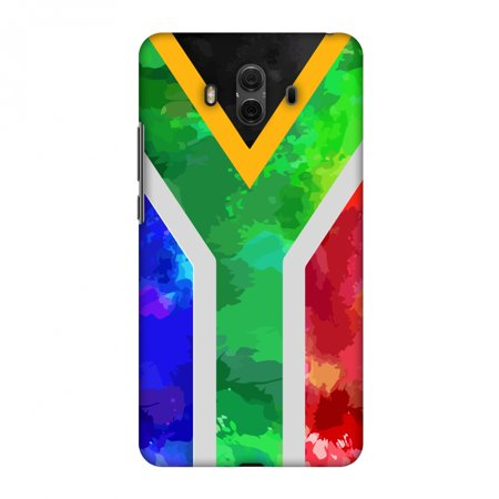 Huawei Mate 10 Case, Premium Handcrafted Printed Designer Hard Snap on Shell Case Back Cover with Screen Cleaning Kit for Huawei Mate 10 - South Africa flag-