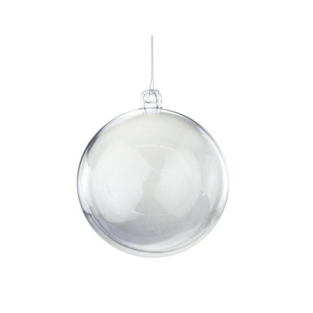 Fillable Round Clear Ball Ornaments, Small, 2-3/4-Inch, 12-Piece - Clear Plastic Balls