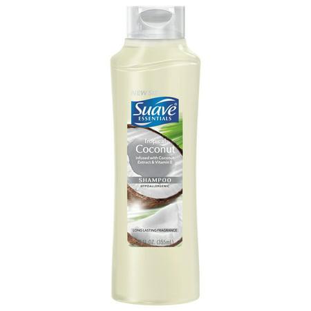 Suave Essentials Tropical Coconut Shampoo, 12 oz