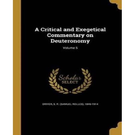 A Critical and Exegetical Commentary on Deuteronomy; Volume 5 - image 1 of 1