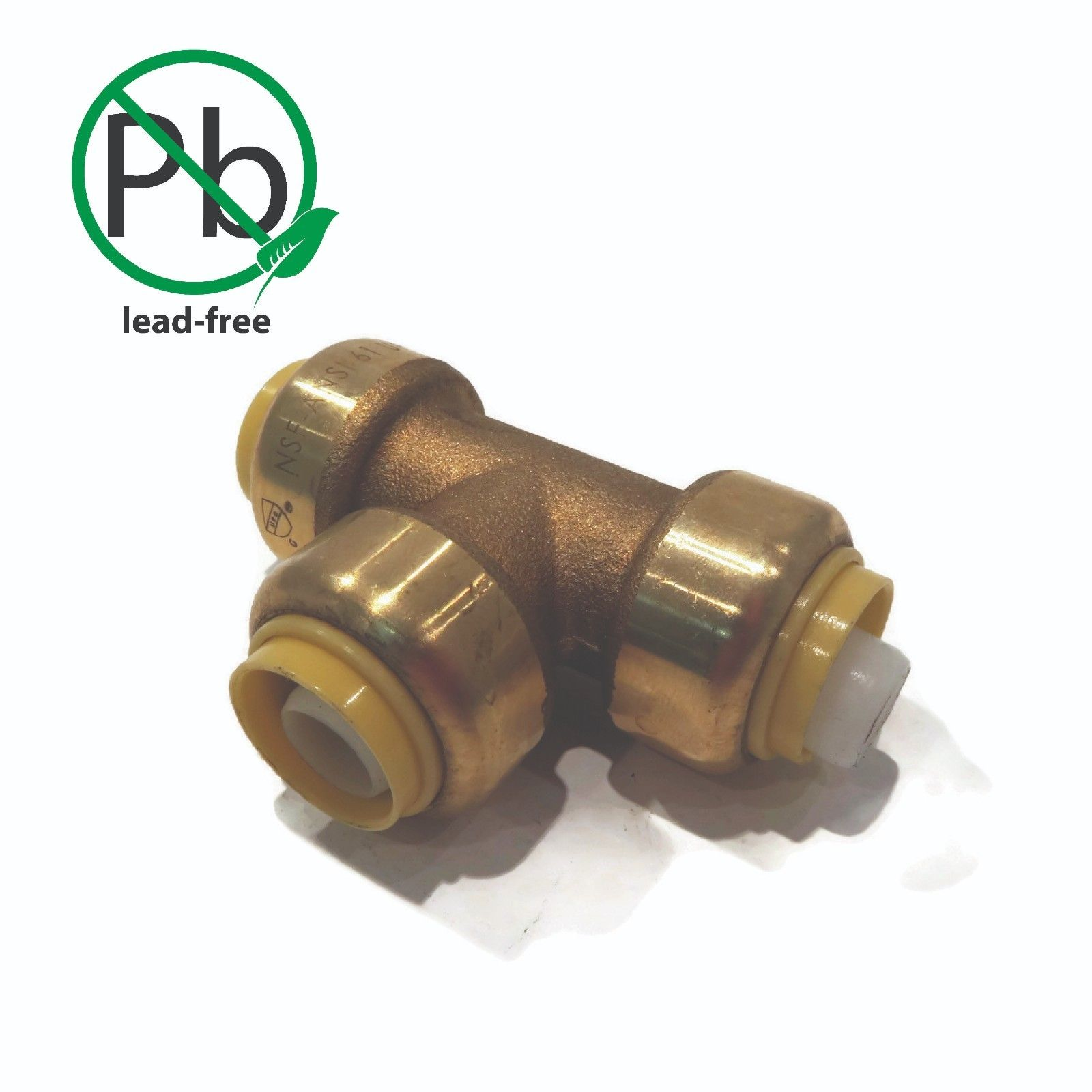 "1/2"" Shark Bite Style LEAD FREE BRASS TEE Push Fitting replaces Nibco PX20000"