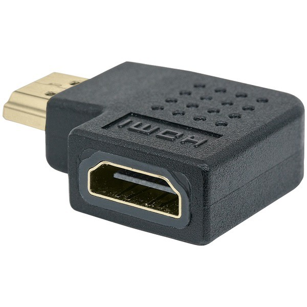 Manhattan 353496 HDMI A-Female to A-Male Adapter, 90-Degree Right Angle