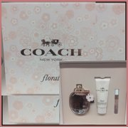 COACH NEW YORK Floral 3 PC  FOR WOMEN EAU DE PARFUM 3.0 OZ +MINI+3.4 BODY LOTION