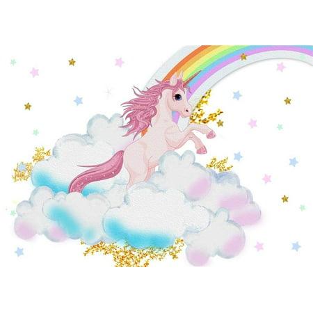 553cda5fd ABPHOTO 7x5ft Unicorn Backdrop Phtotgraphy Cartton Cute Pink Unicorn ...