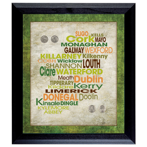 American Coin Treasures Luck Of The Irish Framed Memorabilia